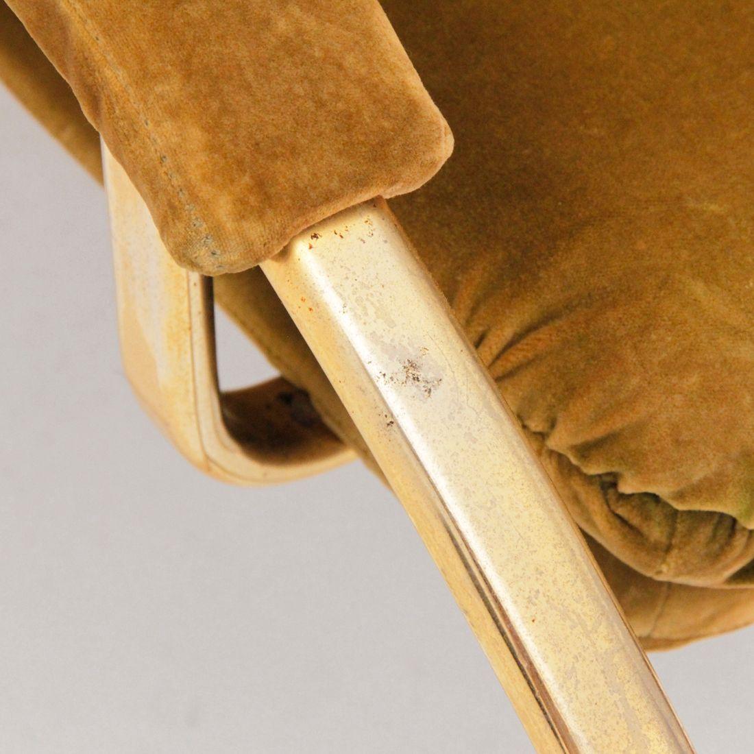 Italienischer schaukelstuhl mit messing rohrgestell bei for Schaukelstuhl englisch
