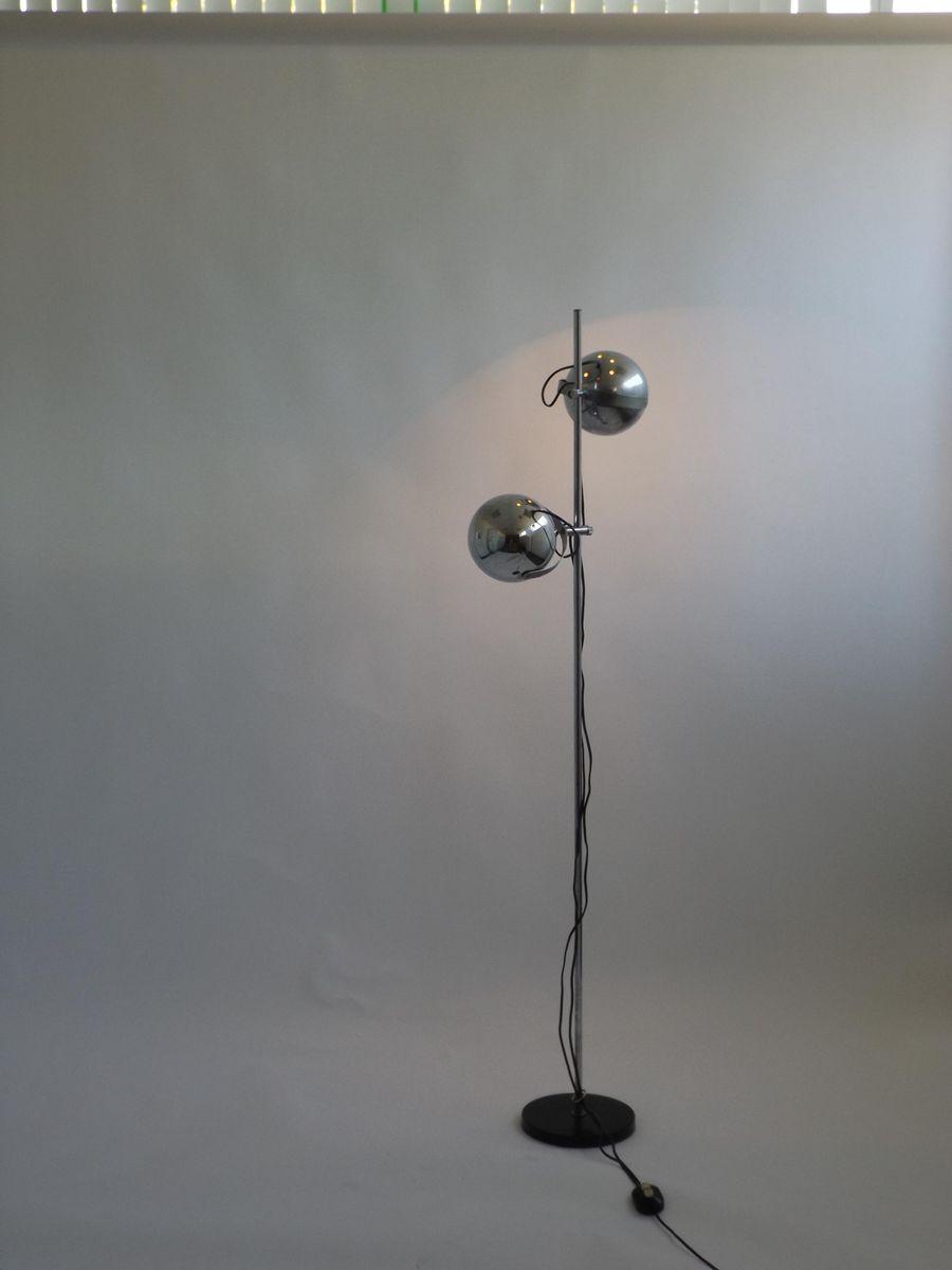 Verstellbare vintage stehlampe aus chrom von dijkstra for Lampen chrom