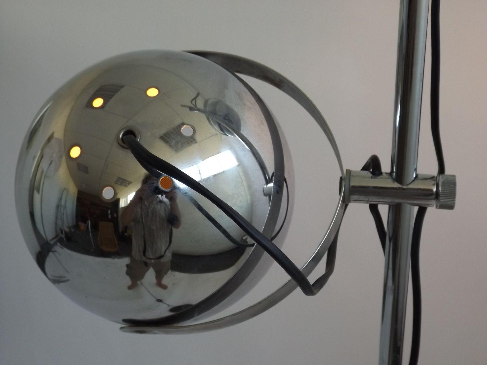 Verstellbare vintage stehlampe aus chrom von dijkstra for Lampen niederlande