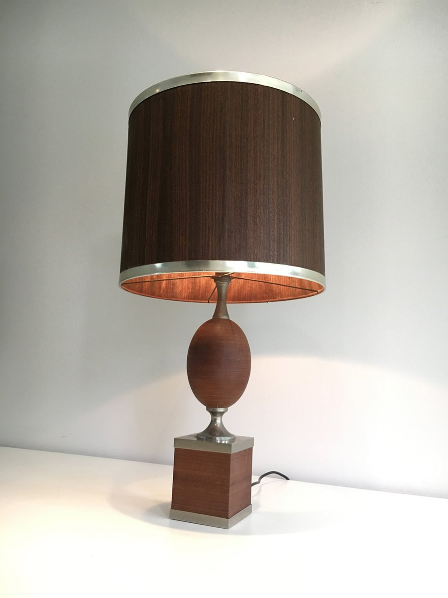 Wood and steel egg table lamp for sale at pamono wood and steel egg table lamp aloadofball Gallery