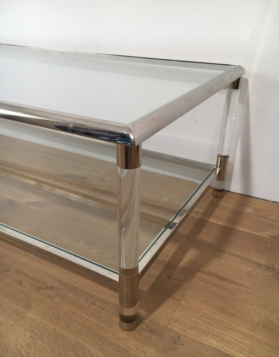 Vintage Chrome and Plexiglass Coffee Table 9. $1,773.00. Price per piece