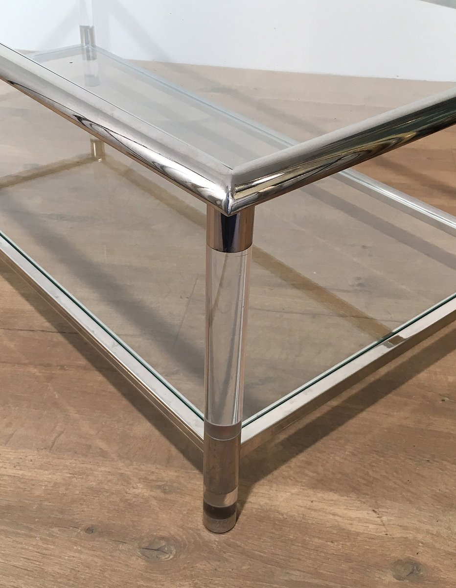 Vintage Chrome and Plexiglass Coffee Table 9. $1,649.00. Price per piece - Vintage Chrome And Plexiglass Coffee Table For Sale At Pamono