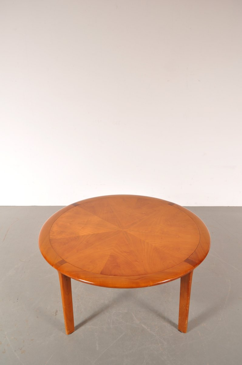 round wooden coffee table from walter knoll s for sale at pamono - round wooden coffee table from walter knoll s