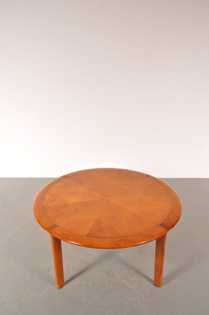 runder couchtisch aus holz von walter knoll 1960er bei pamono kaufen. Black Bedroom Furniture Sets. Home Design Ideas