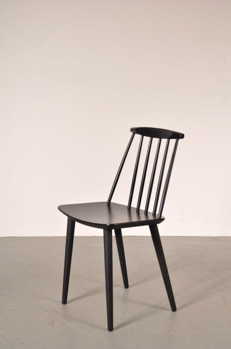 Black scandinavian dining chairs by folke palsson for fdb for Black dining chairs for sale