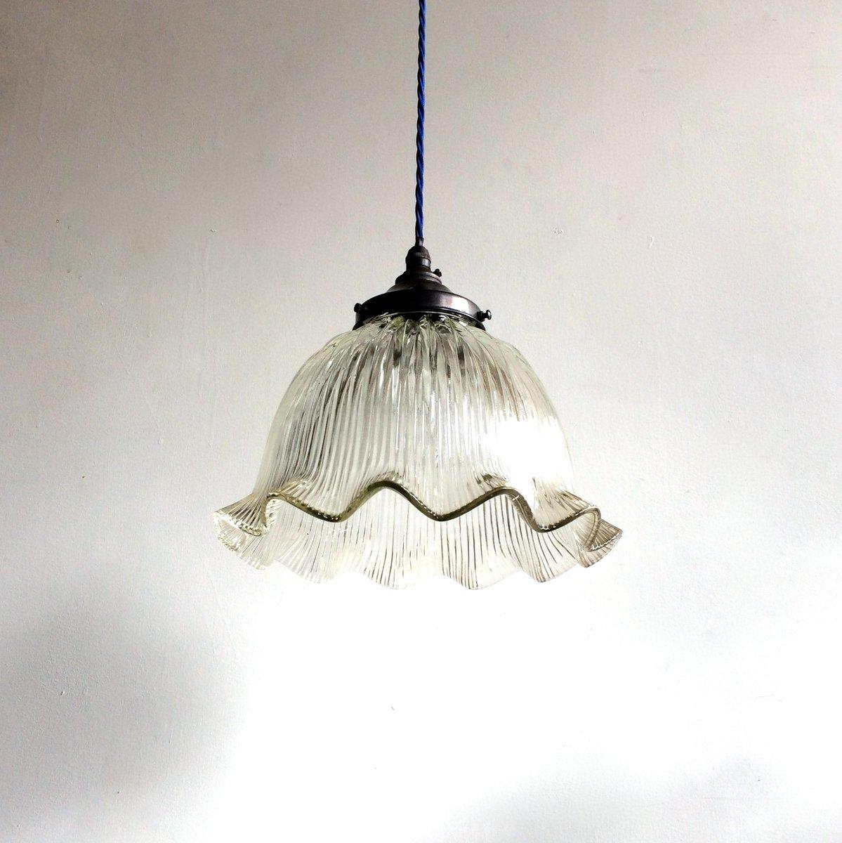 vintage glas h ngelampe von holophane bei pamono kaufen. Black Bedroom Furniture Sets. Home Design Ideas