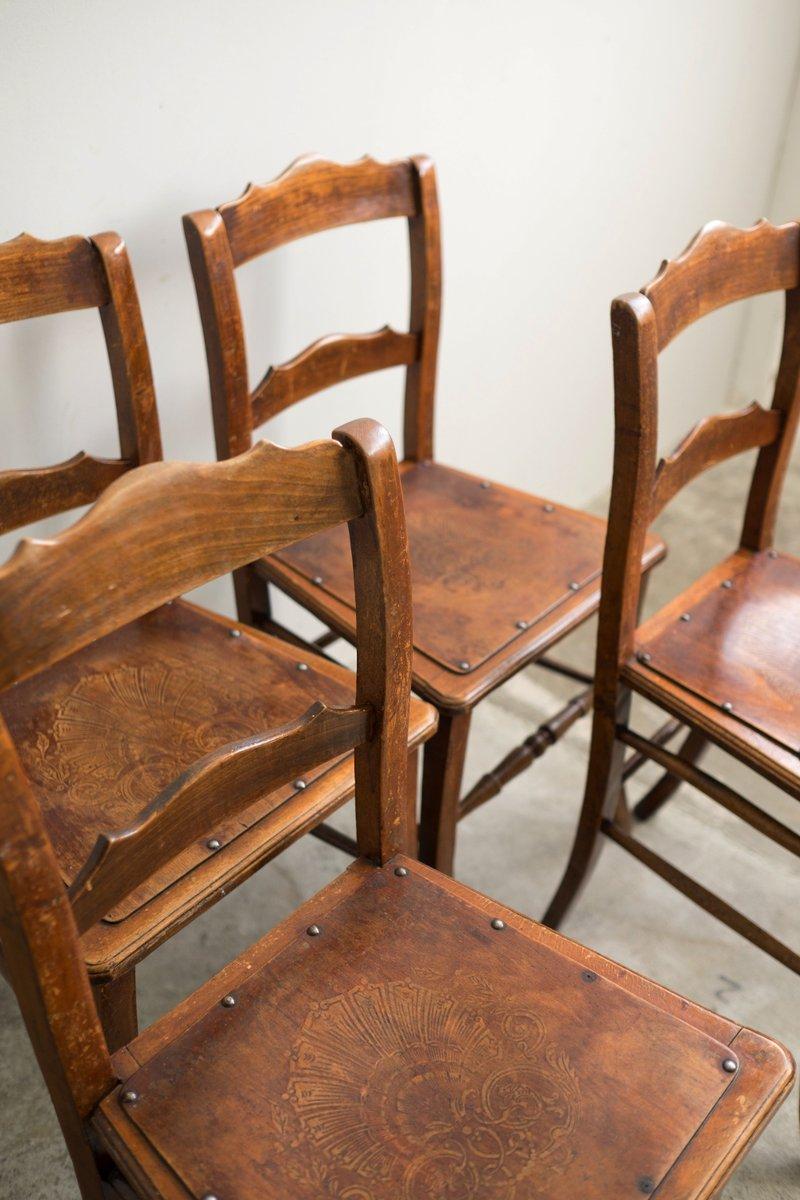 chaises de bistrot de luterma estonie 1900s set de 4 en vente sur pamono. Black Bedroom Furniture Sets. Home Design Ideas