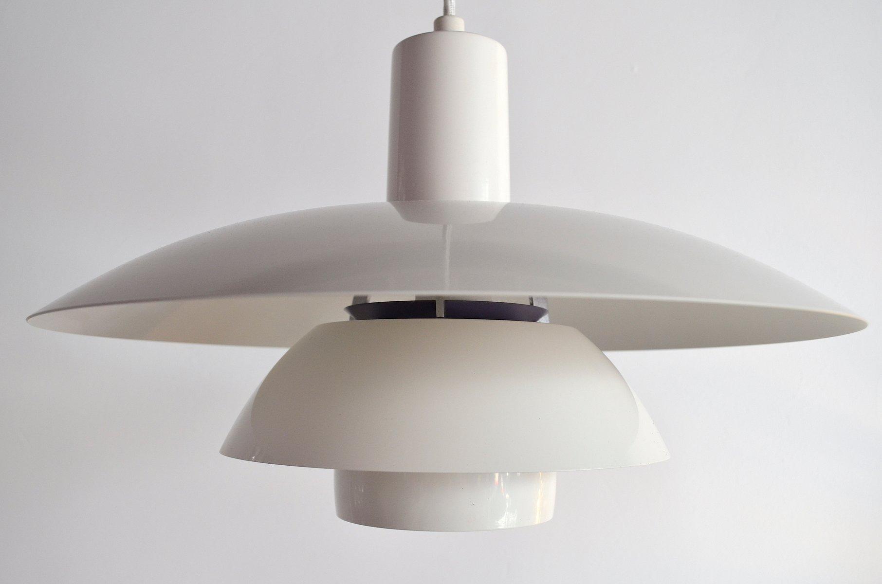 mid-century-ph-4-1-2-4-metall-haengelampe-von-poul-henningsen-fuer-louis-poulsen-1 Schöne Lampe Mit Mehreren Lampenschirmen Dekorationen