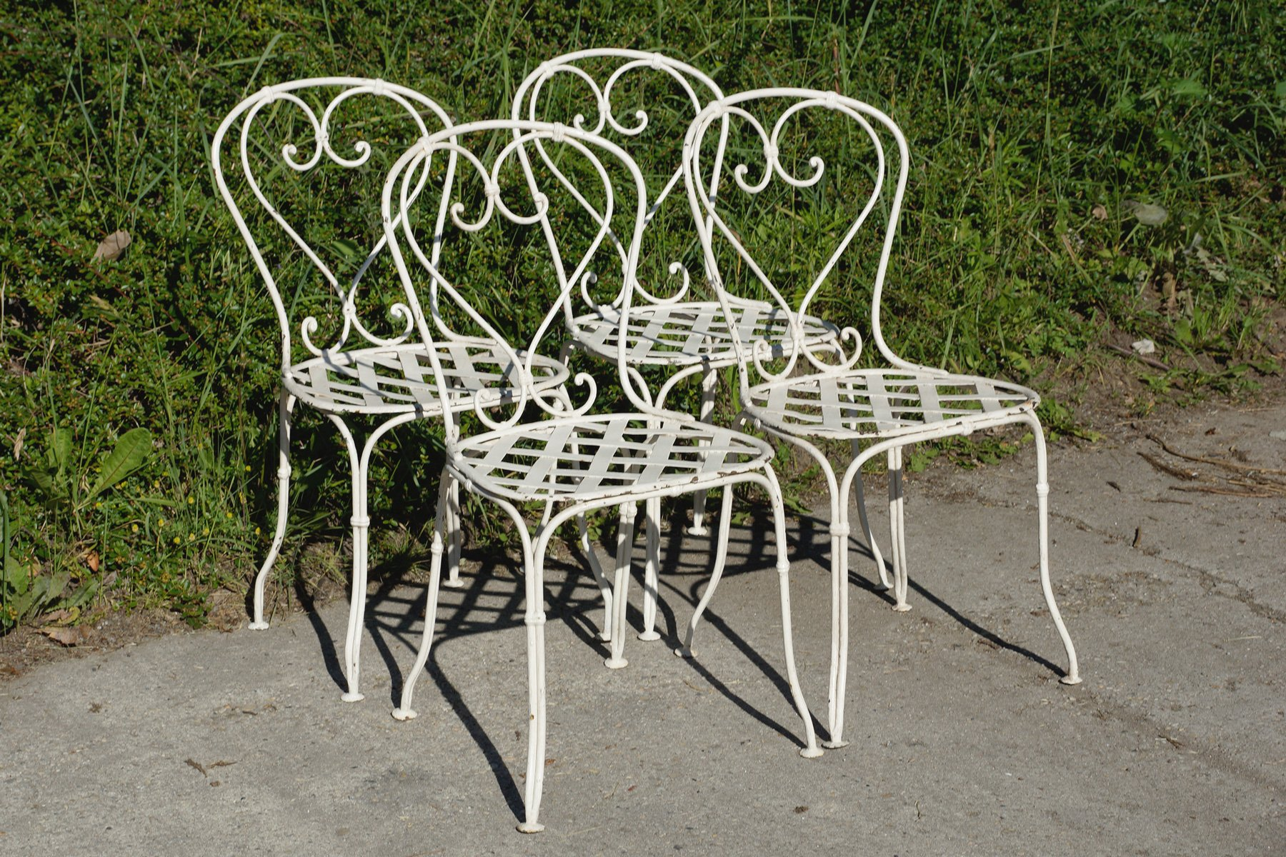 French wrought iron garden chairs 1860s set of 4 for sale at pamono French metal garden furniture