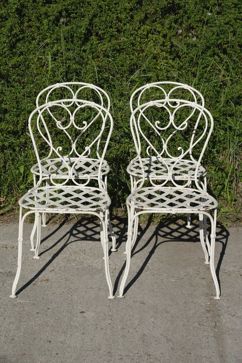 Sedie da giardino in ferro battuto francia met xix - Set da giardino ferro battuto ...