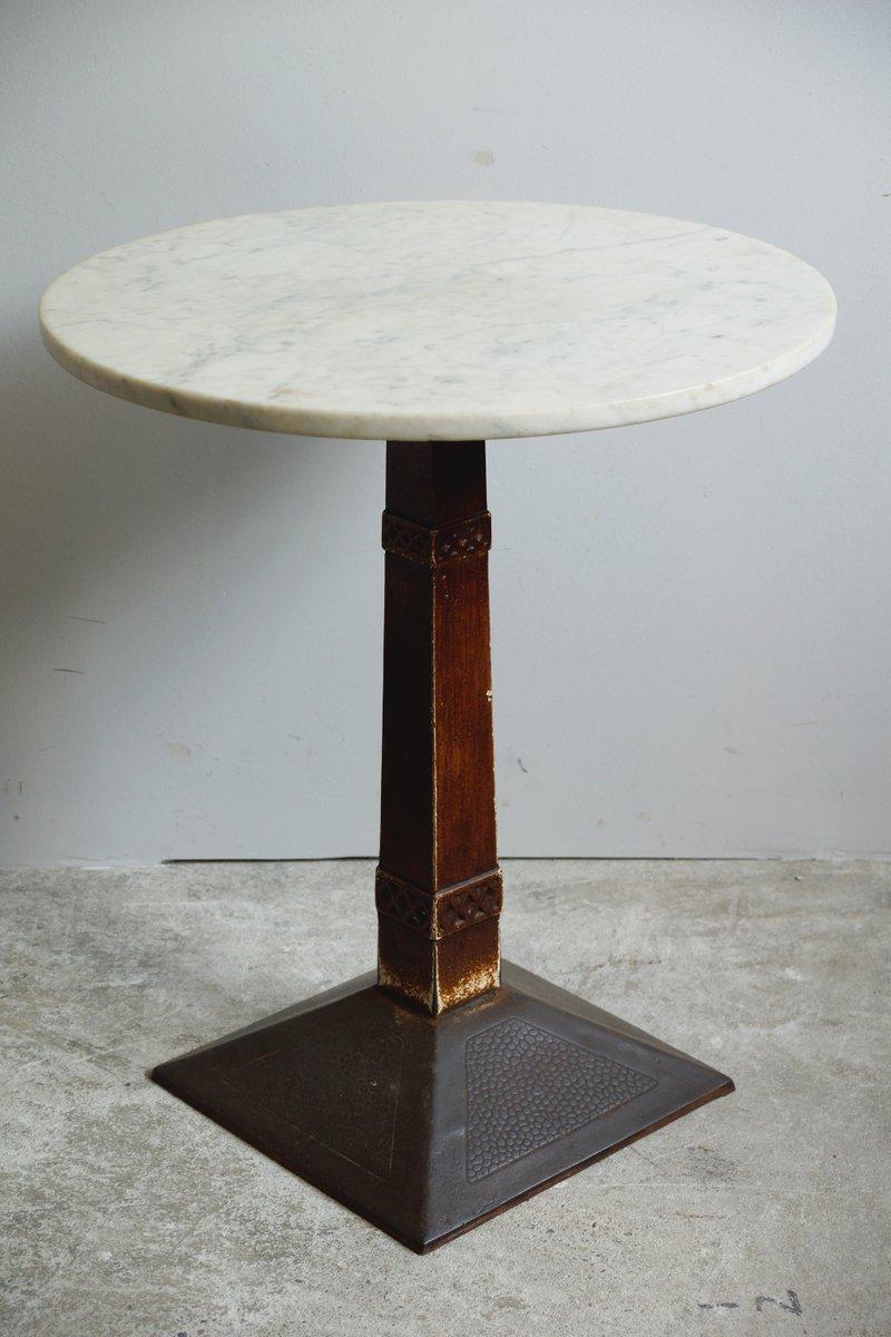 kleiner art deco bistrotisch mit marmorplatte 1920er bei pamono kaufen. Black Bedroom Furniture Sets. Home Design Ideas