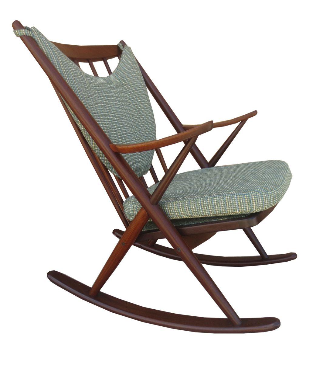 Frank reenskaug rocking chair - Teak Rocker By Frank Reenskaug For Bramin 1953