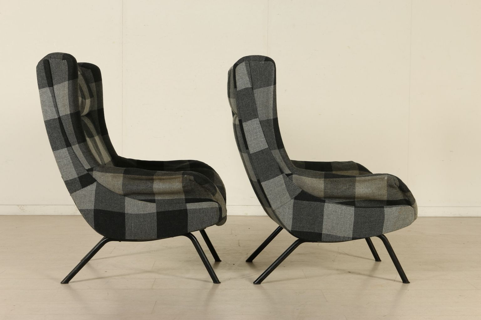 Italienische sessel mit verstellbaren kopflehnen 1950er for Italienische sessel design