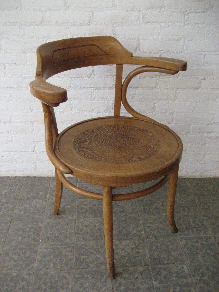 Chaise en bois de h tre avec accoudoirs de luterma france for Chaise 1930