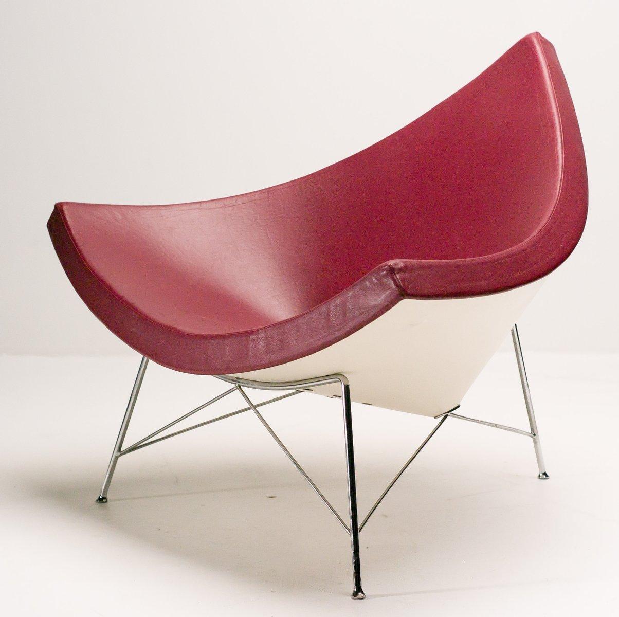 amerikanischer ochsenblutroter coconut stuhl von george nelson f r vitra 1980er bei pamono kaufen. Black Bedroom Furniture Sets. Home Design Ideas