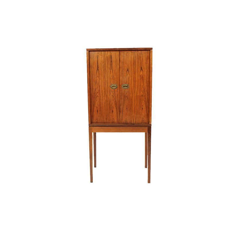 Petit meuble mid century en palissandre par ole wanscher for Meuble mid century montreal