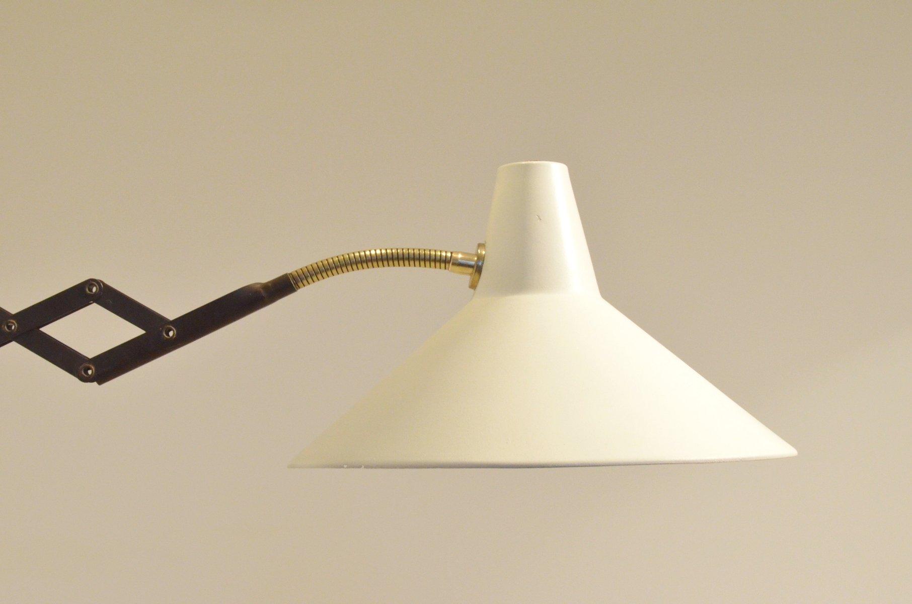 niederl ndische mid century lampe mit ziehharmonika gelenk. Black Bedroom Furniture Sets. Home Design Ideas