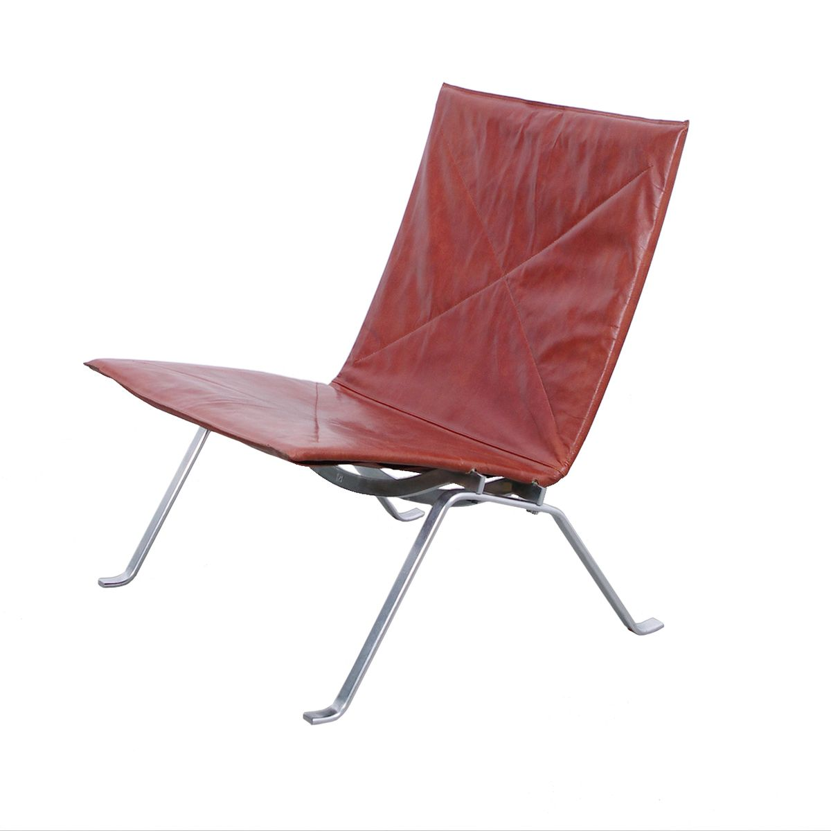 Danish PK22 Lounge Chair By Poul Kjaerholm For E Kold Christensen 1950s For