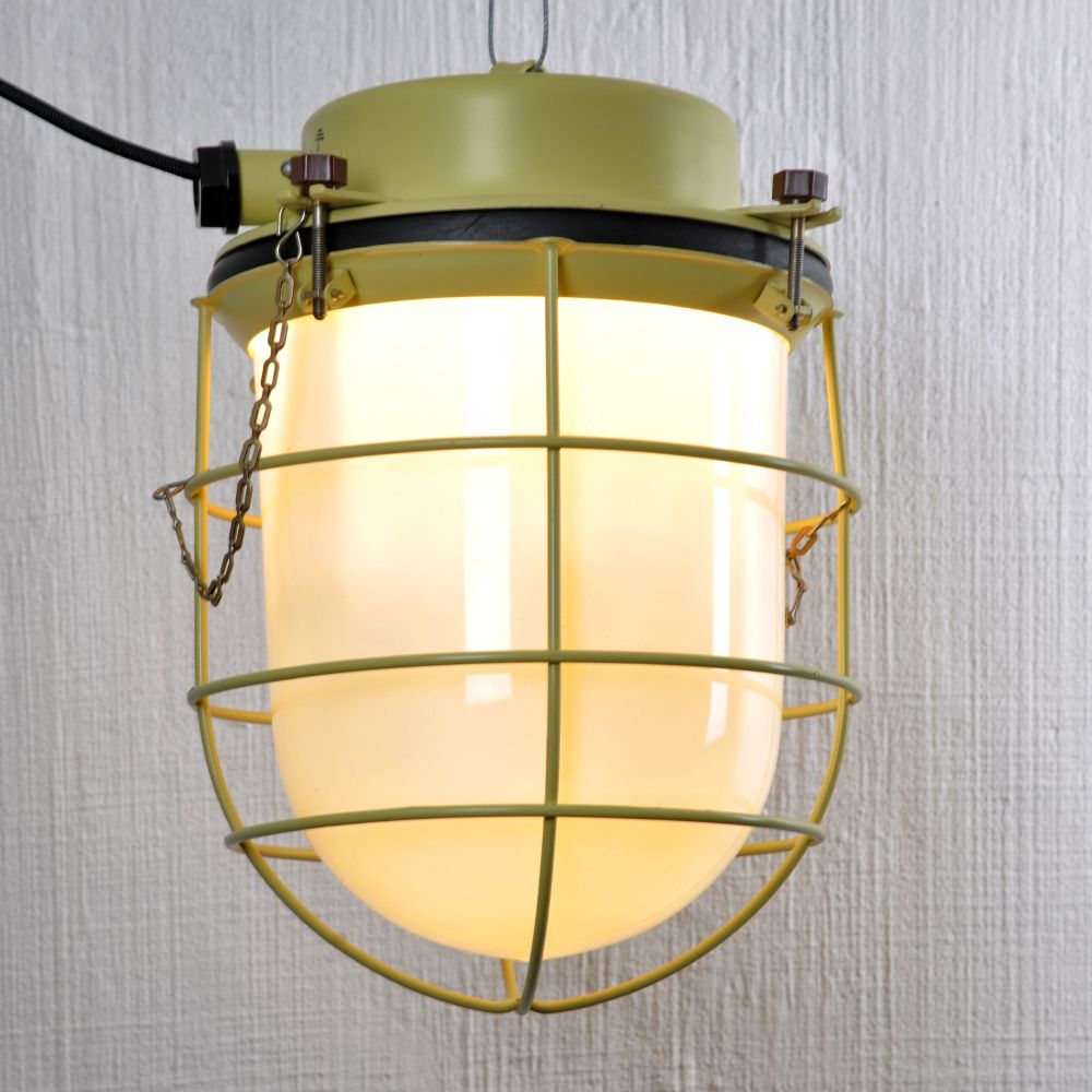 Russian Industrial Yellow Metal And Light, 1981 For Sale