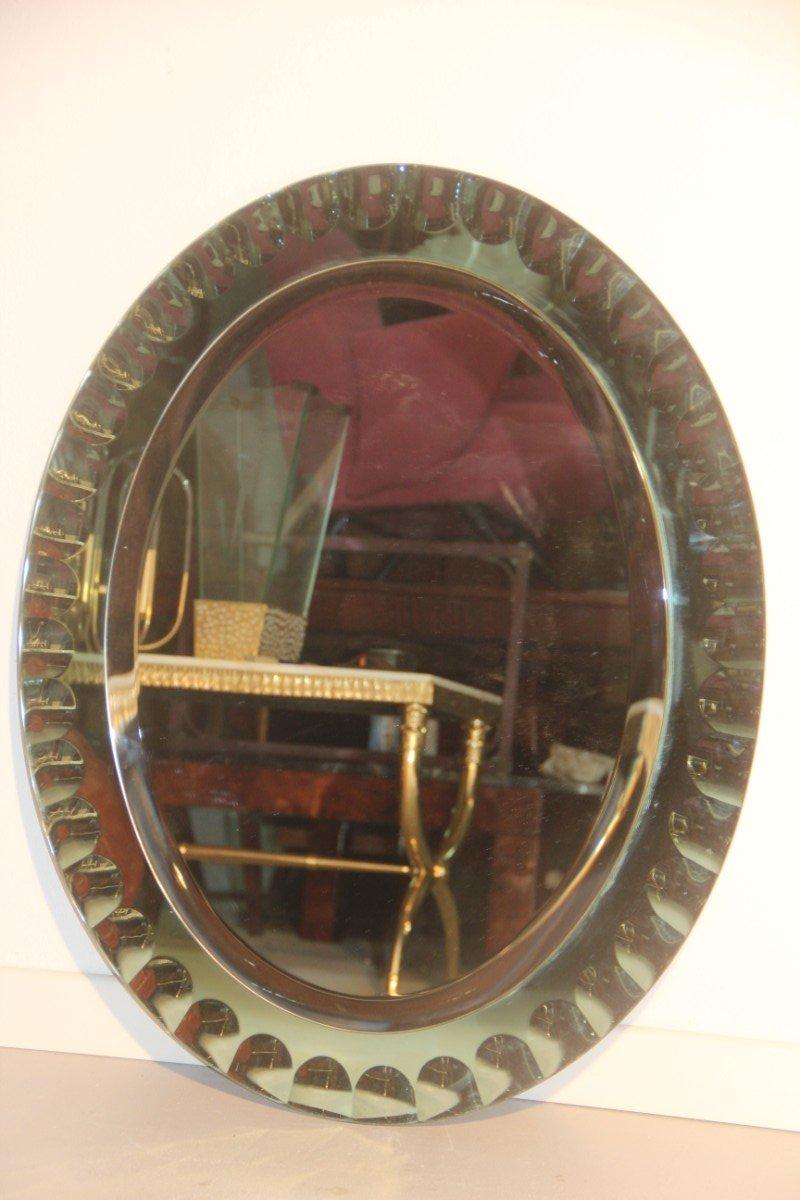 Italienischer spiegel mit gr nem ovalen rahmen 1960 bei for Spiegel oval mit rahmen
