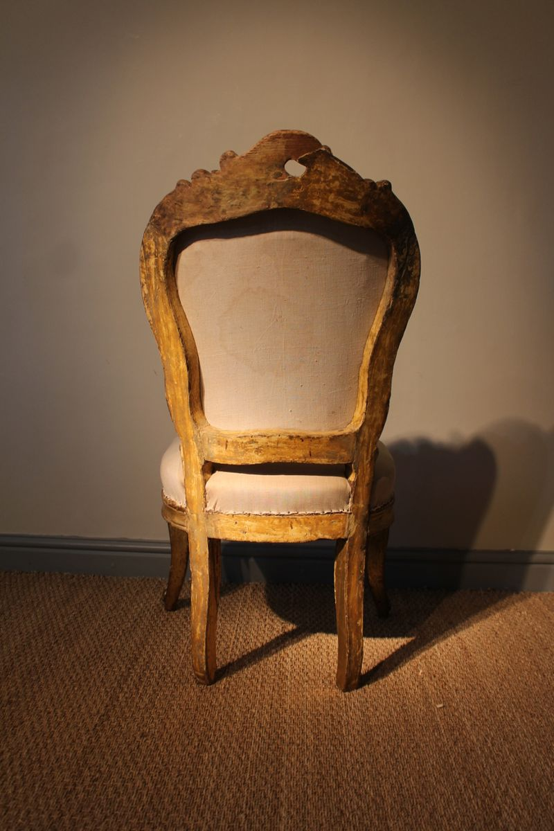 Antique italian gilded armchair for sale at pamono for Chair in italian