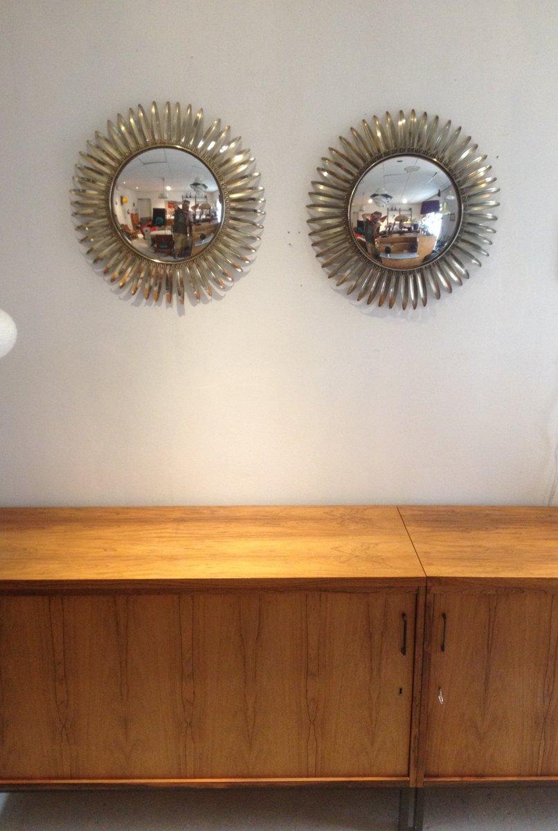 hollywood spiegel mit rahmen in sonnen optik 2er set bei pamono kaufen. Black Bedroom Furniture Sets. Home Design Ideas