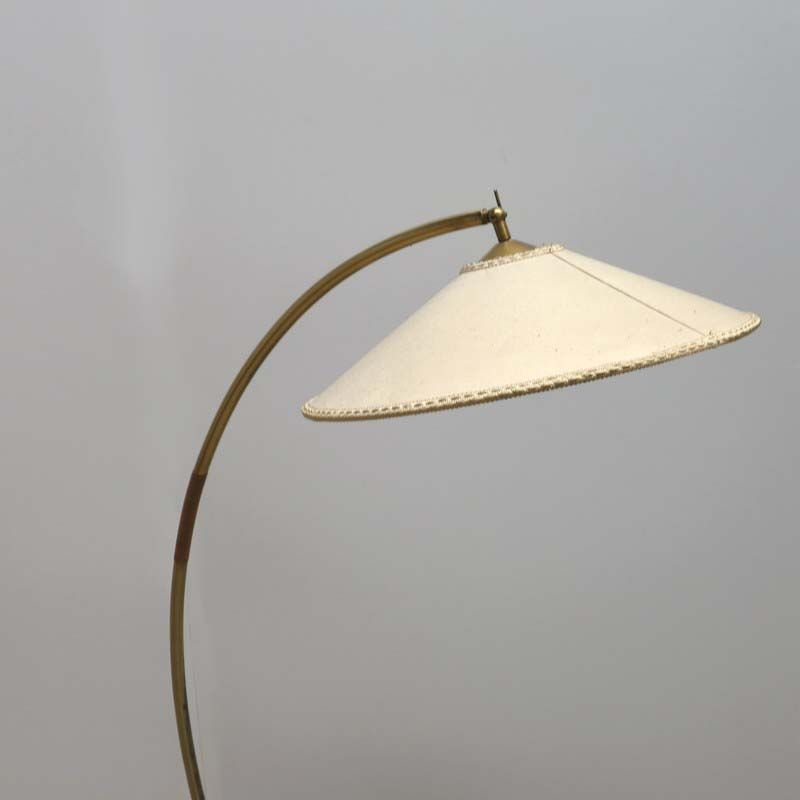 german arc floor lamp with fabric shade for sale at pamono With arc floor lamp with fabric shade