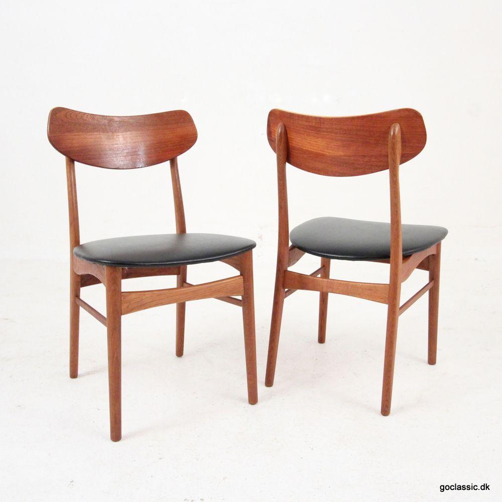 vintage esszimmerst hle aus teak eiche 4er set bei. Black Bedroom Furniture Sets. Home Design Ideas