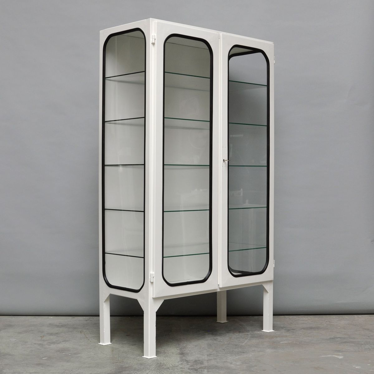 Mid Century Vintage Hungarian Steel And Glass Medicine Cabinet, 1970s Part 36