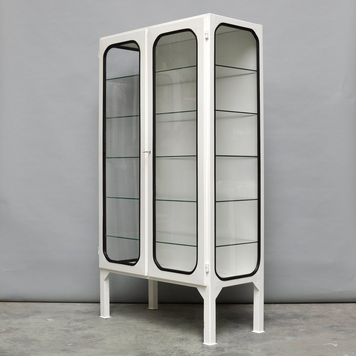 Mid-Century Vintage Hungarian Steel and Glass Medicine Cabinet ...