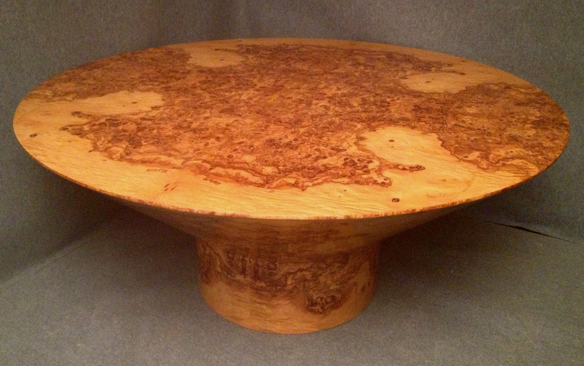 Vintage Olivewood Dining Table, 1920 For Sale At Pamono
