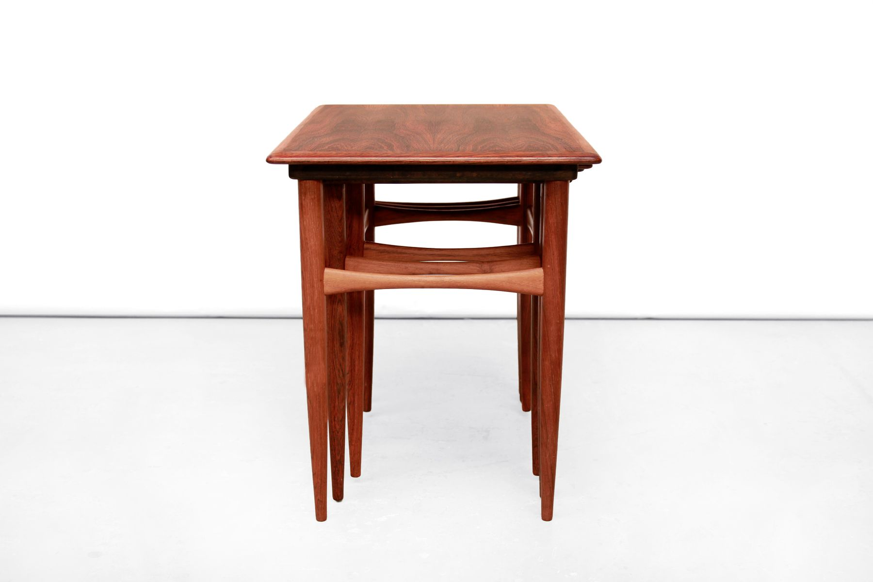 Amazing photo of Scandinavian Rosewood Nesting Tables by Poul Hundevad 1960s for sale  with #31140C color and 1800x1200 pixels
