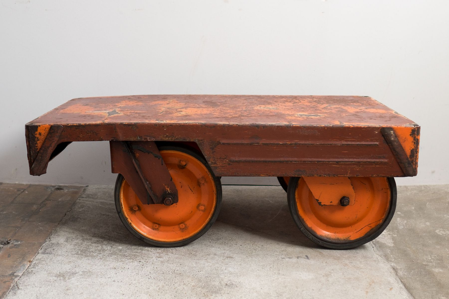 Industrial Czech Colored Coffee Table 1950s For Sale At Pamono