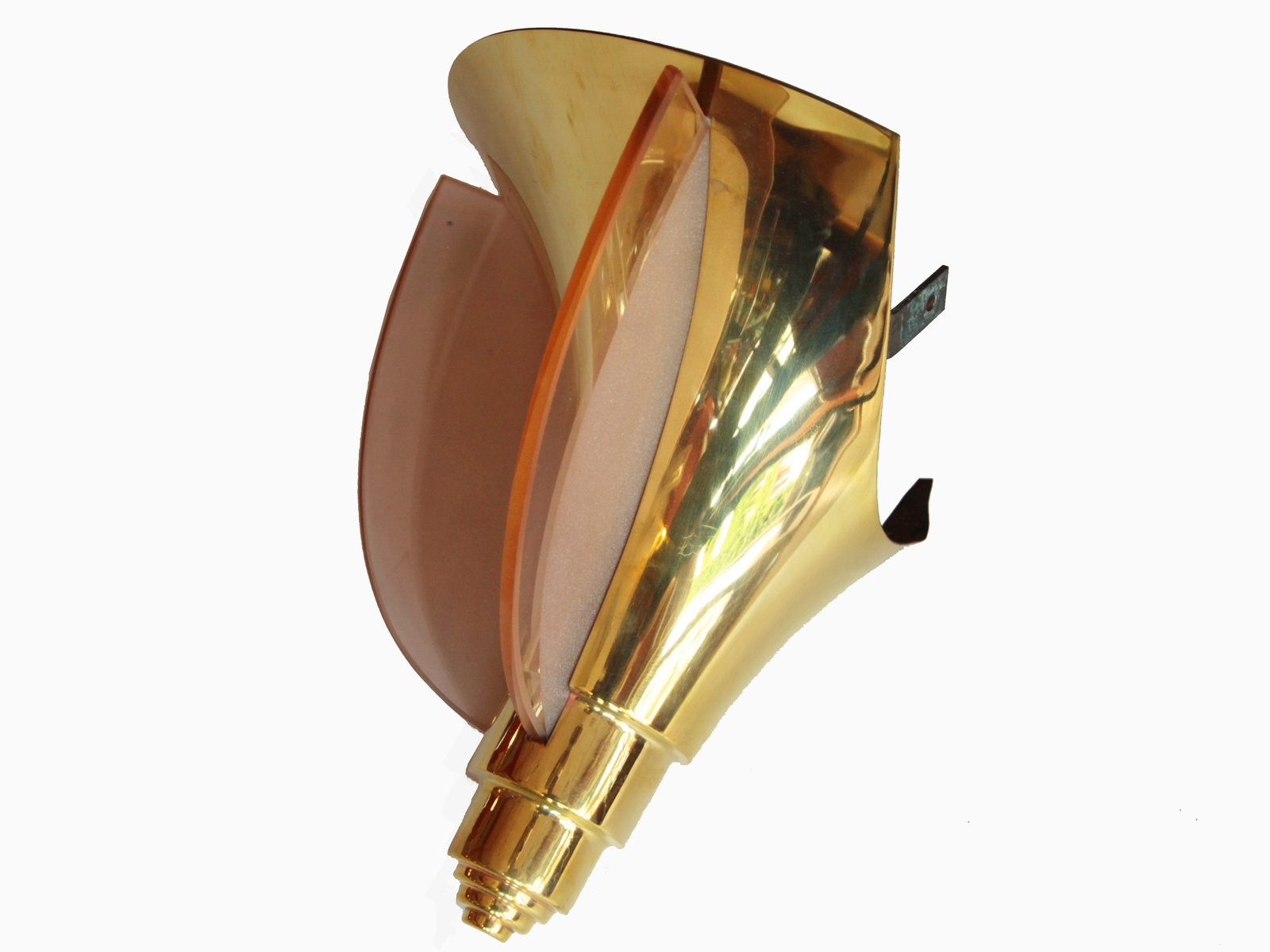 French Art Deco Corner Wall Light from Henri Petitot 1930s for