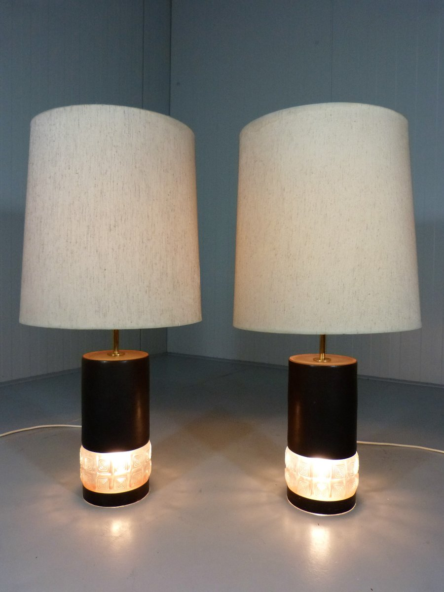 vintage glass table lamps set of 2 for sale at pamono. Black Bedroom Furniture Sets. Home Design Ideas