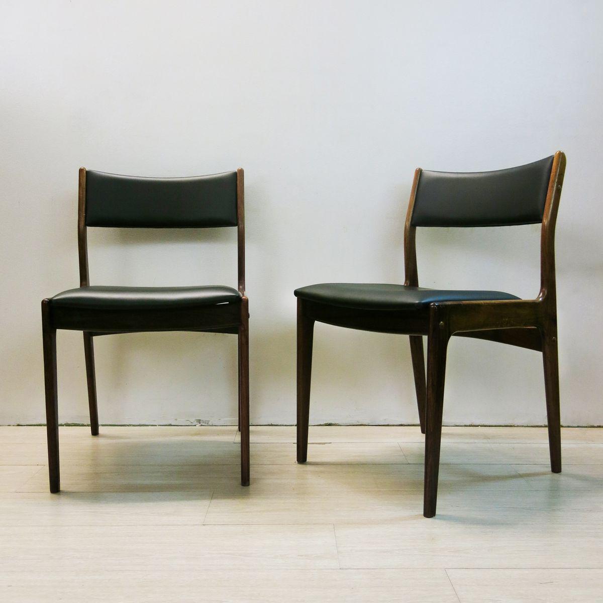 d nische palisander st hle von johannes andersen f r uldum mobelfabrik 1960er 4er set bei. Black Bedroom Furniture Sets. Home Design Ideas