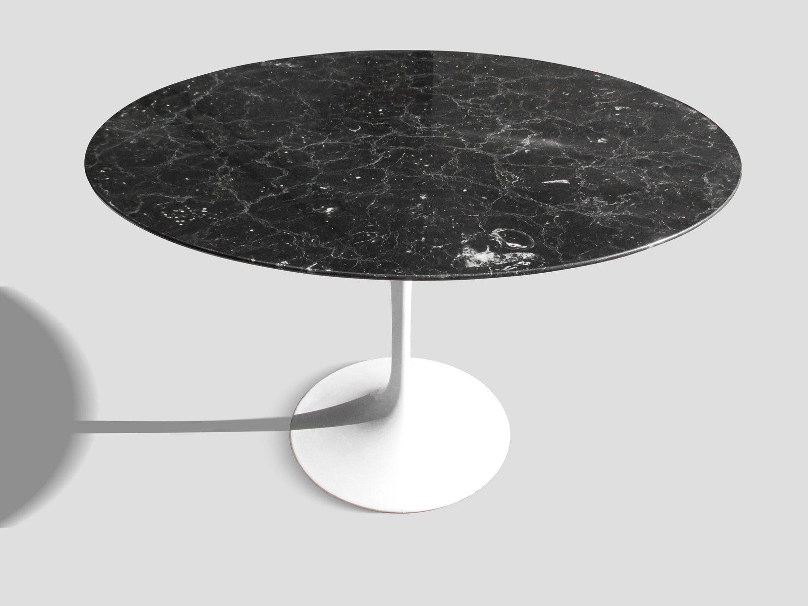 Table de salle à manger mid century en marbre par eero saarinen ...