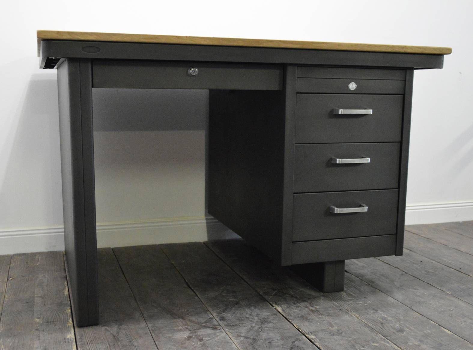 franz sischer industrieller mid century schreibtisch von strafor bei pamono kaufen. Black Bedroom Furniture Sets. Home Design Ideas
