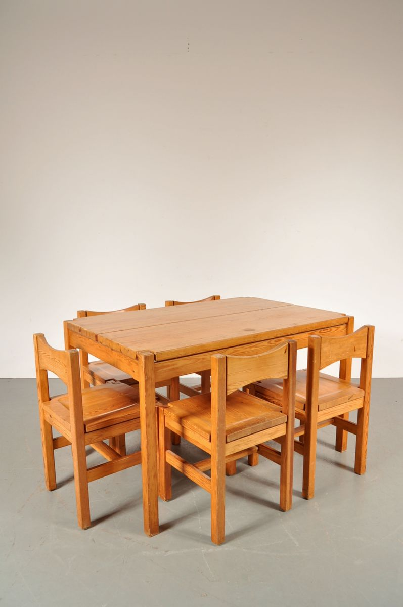 Oak dining room set by ilmari tapiovaara for laukaan puu 1970s for sale at pamono - Oak dining room sets for sale ...