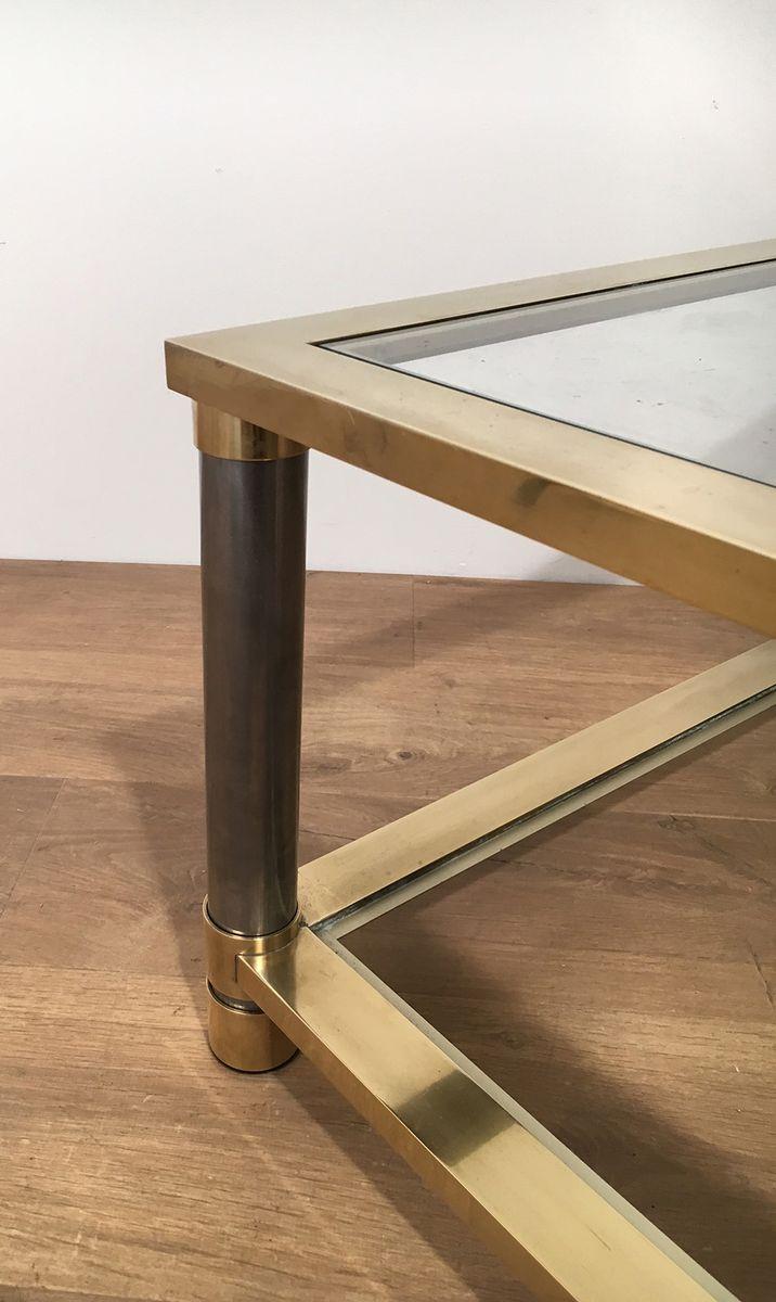 Vintage Glass Coffee Table 116