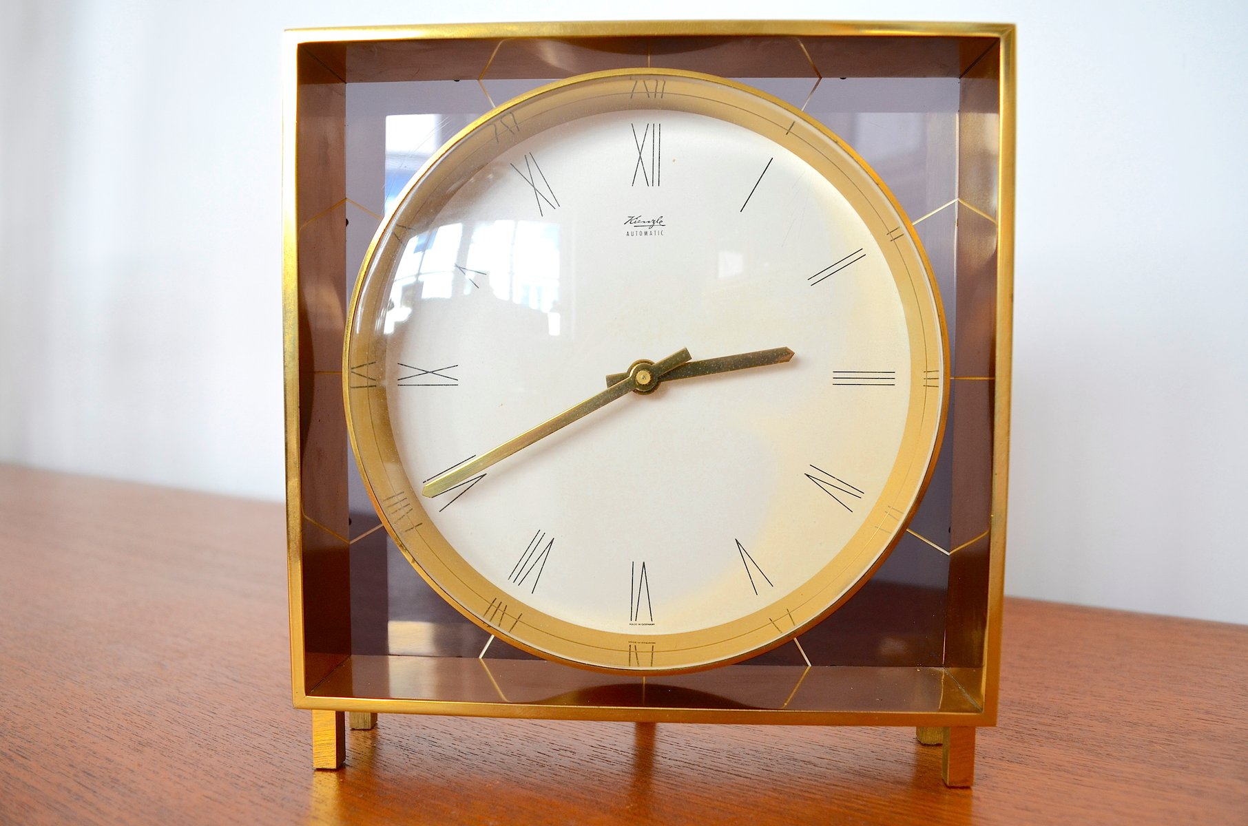 Mid century clocks online shop shop mid century clocks at pamono german table clock by heinrich mller for kienzle 1960s amipublicfo Choice Image