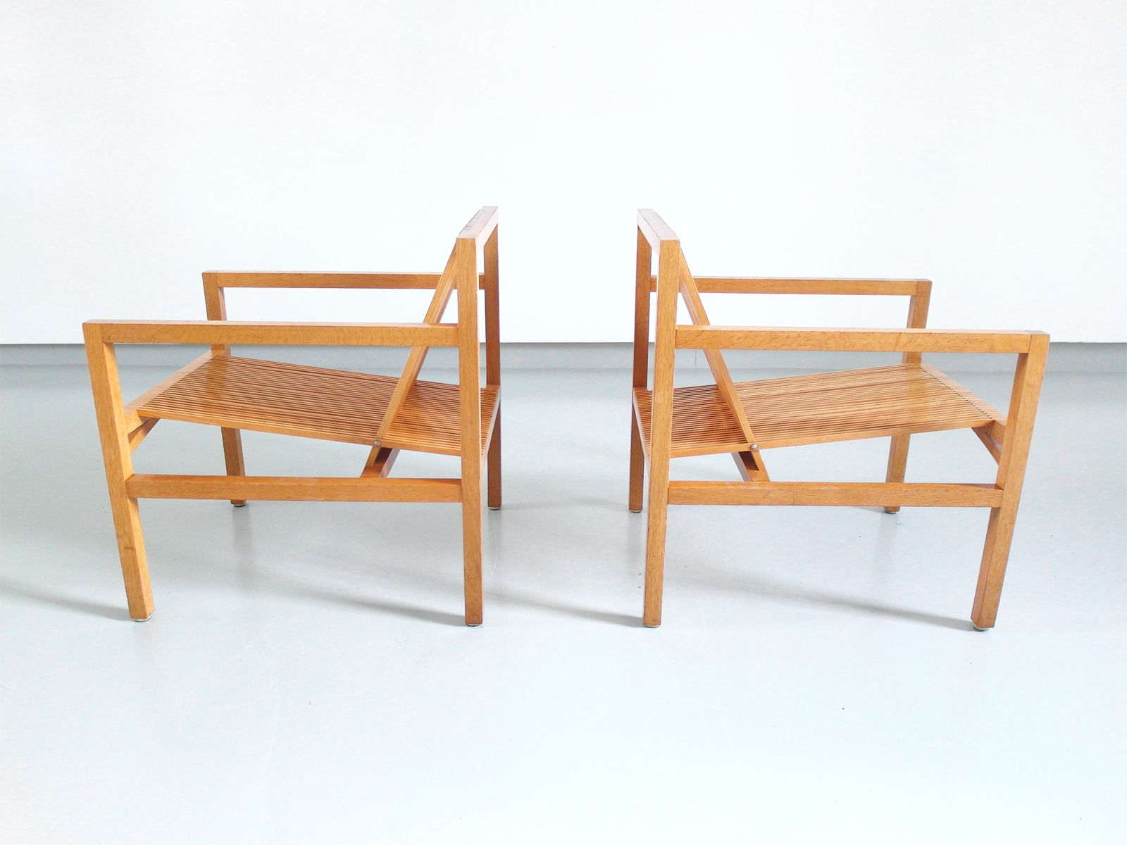 Dutch Oak & Ash Easy Chairs by Ruud Jan Kokke for Metaform 1984