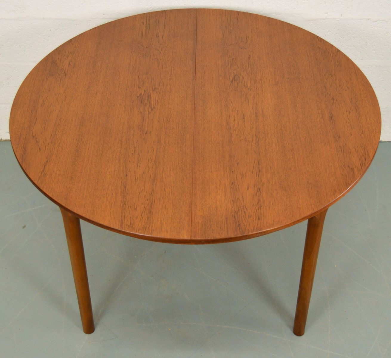 Mid Century Extendable Circular Teak Dining Table From McIntosh For Sale At P
