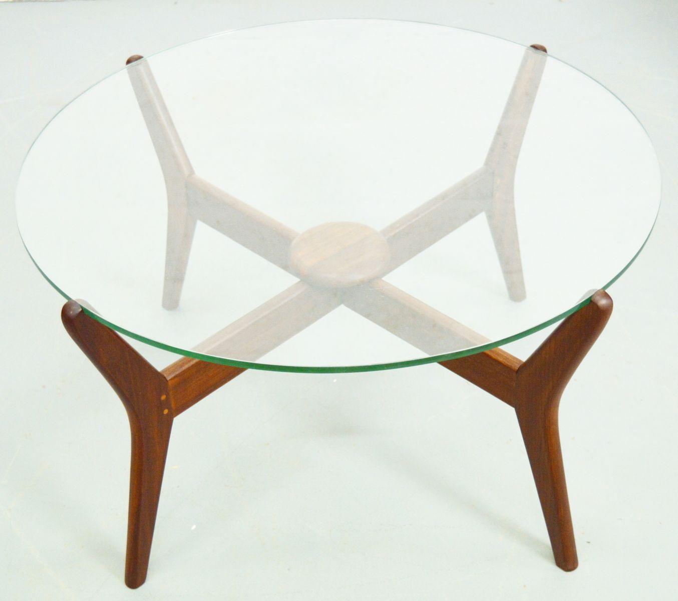 Teak And Glass Coffee Table Mid Century Danish Teak Glass Coffee Table For Sale At Pamono