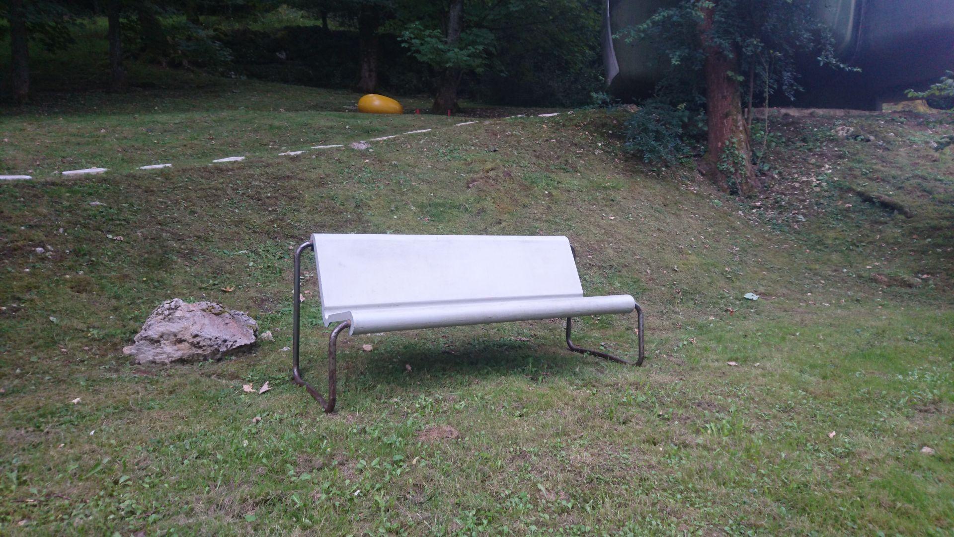 Fiberglass Garden Bench : Vintage fiberglass garden bench by willy guhl for sale at