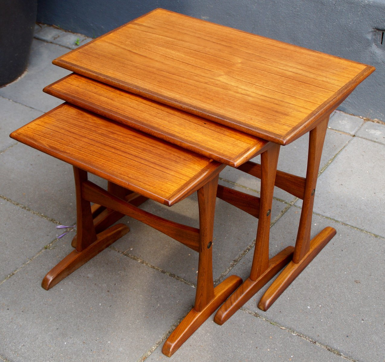Teak Nesting Tables ~ Mid century danish teak nesting tables for sale at pamono