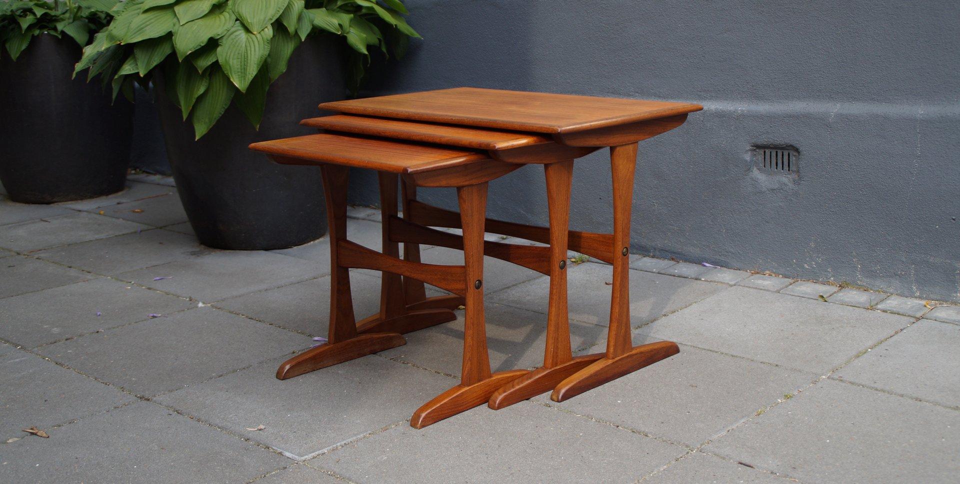 Mid Century Danish Teak Nesting Tables For Sale At Pamono