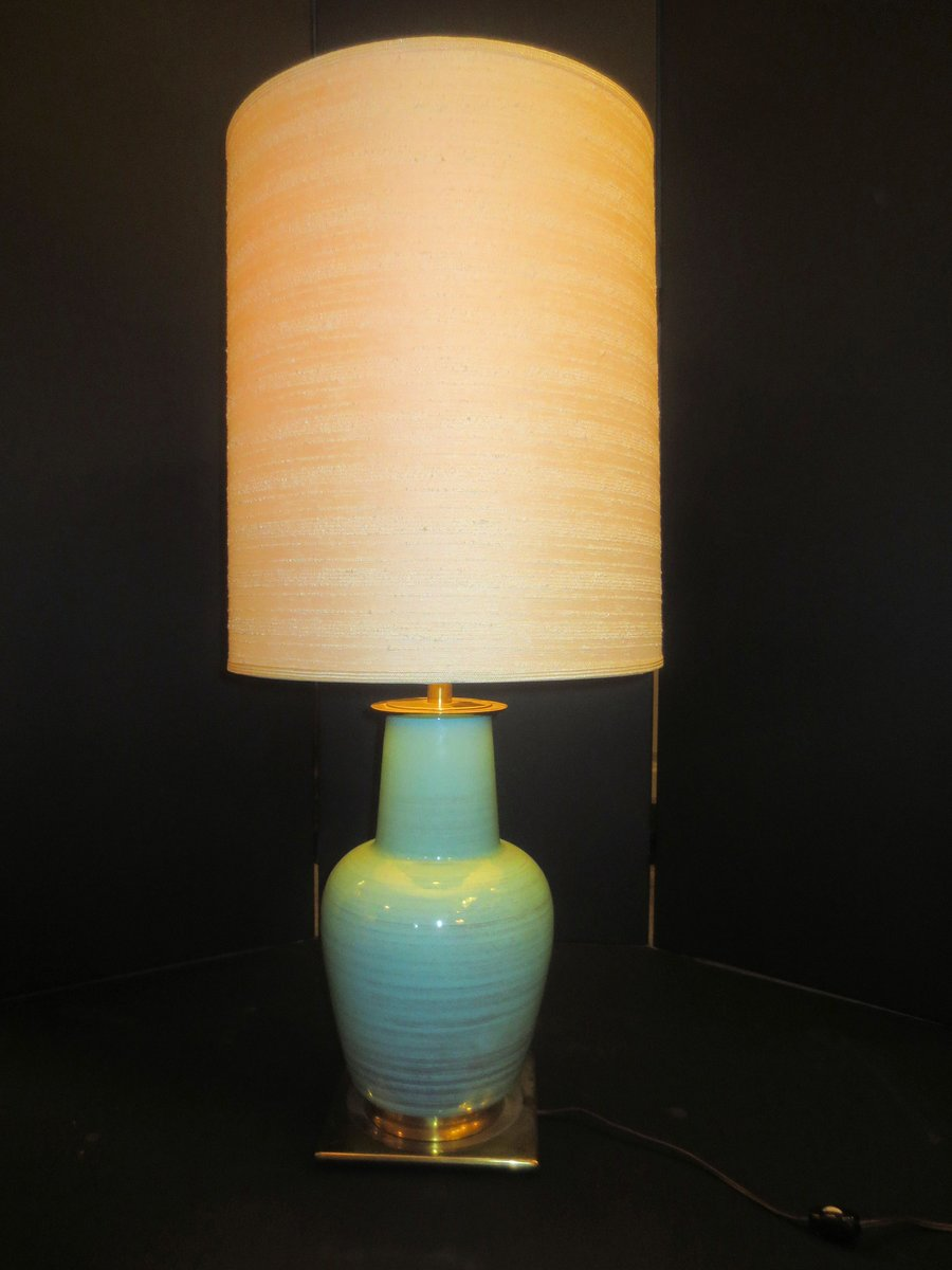 mid century ceramic table lamp from stiffel for sale at pamono. Black Bedroom Furniture Sets. Home Design Ideas