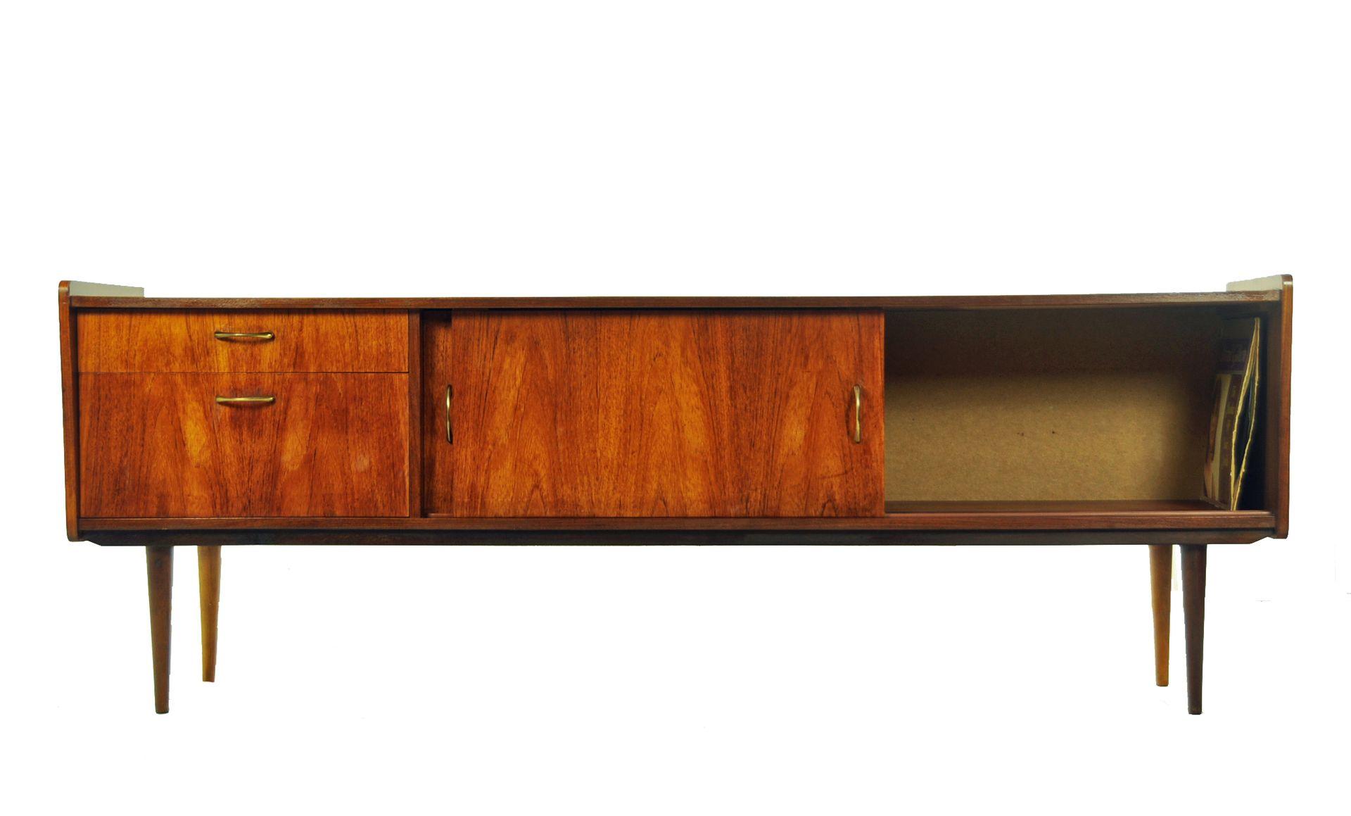 vintage teak lowboard 1966 for sale at pamono. Black Bedroom Furniture Sets. Home Design Ideas
