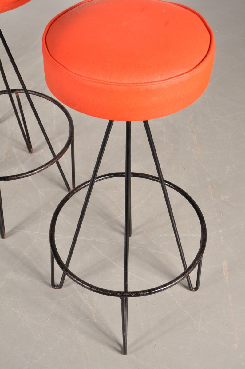 American Bar Stools By Frederick Weinberg 1950s Set Of 4